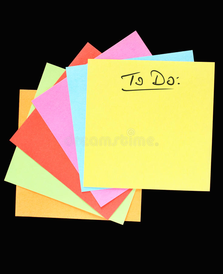 Download ToDo stock image. Image of note, color, separated, communication - 30801209