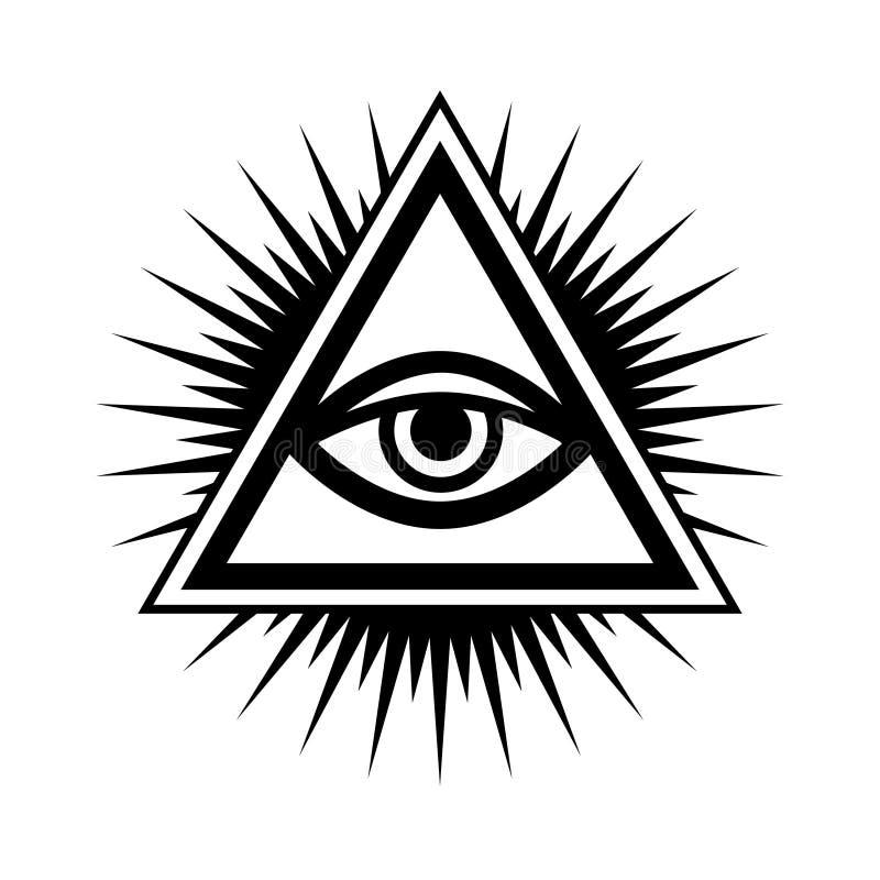 Todo-vendo o olho ( O olho de Providence) ilustração do vetor