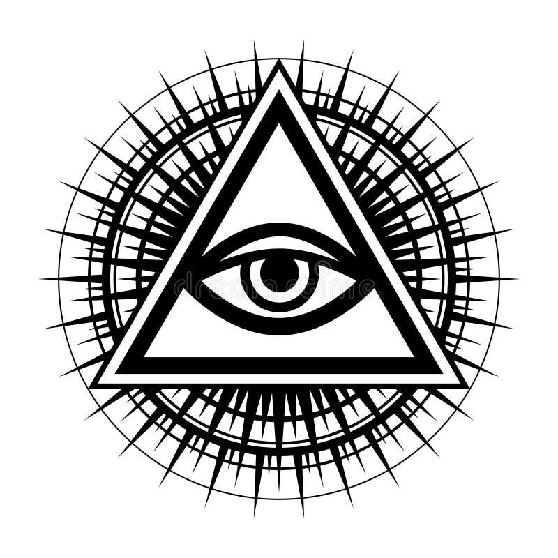 Todo-vendo o olho o olho do providência ilustração do vetor