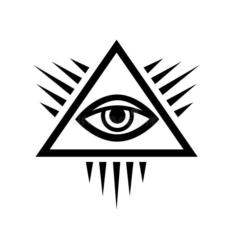 Todo-ver el ojo del ojo de la providencia ilustración del vector
