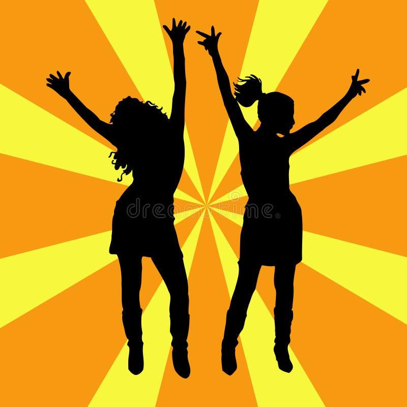 Todos dança! ilustração stock