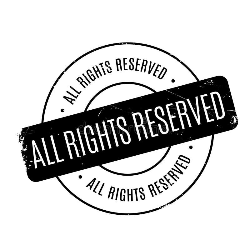 Todos los derechos reservados sello de goma imágenes de archivo libres de regalías