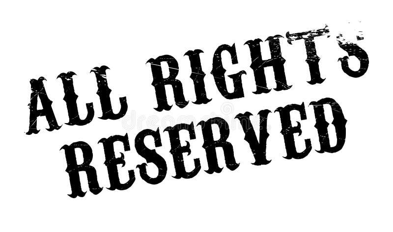Todos los derechos reservados sello de goma imagen de archivo libre de regalías