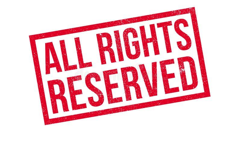 Todos los derechos reservados sello de goma imagen de archivo