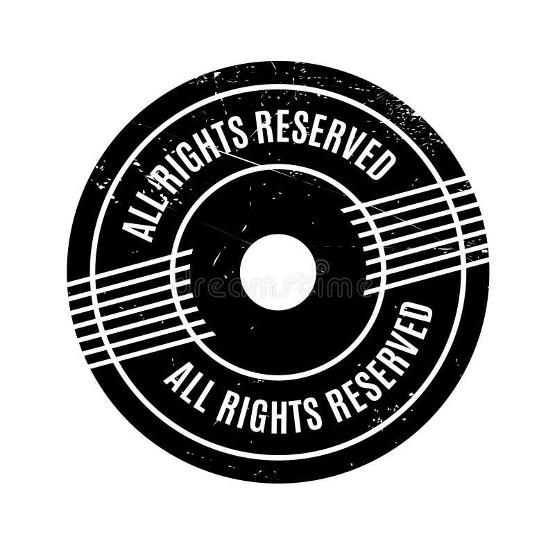 Todos los derechos reservados sello de goma imagenes de archivo