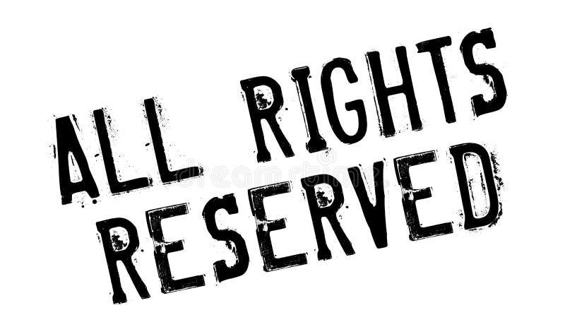 Todos los derechos reservados sello de goma foto de archivo libre de regalías
