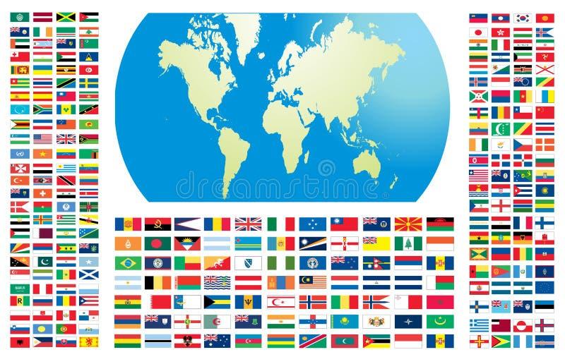 Todos los indicadores del mundo ilustración del vector