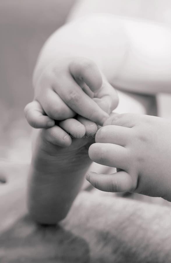 toe δάχτυλων μωρών στοκ εικόνες