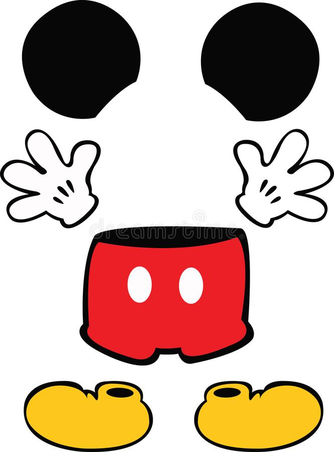 Toebehoren Mickey Disney royalty-vrije stock foto's