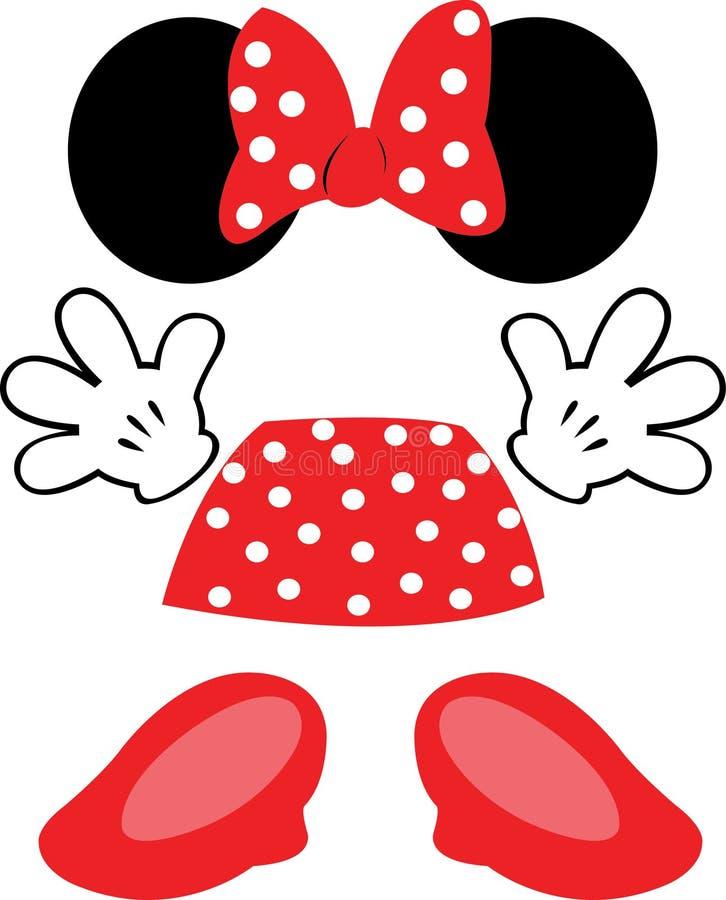 Toebehoren Minnie Disney stock foto's