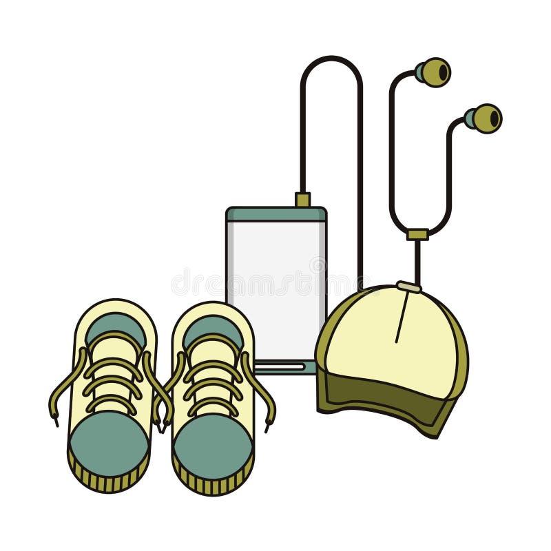 Toebehoren voor de symbolen van de zomerdagen vector illustratie