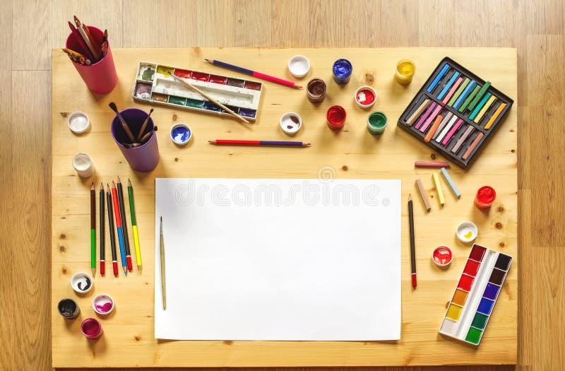Toebehoren voor tekening royalty-vrije stock foto