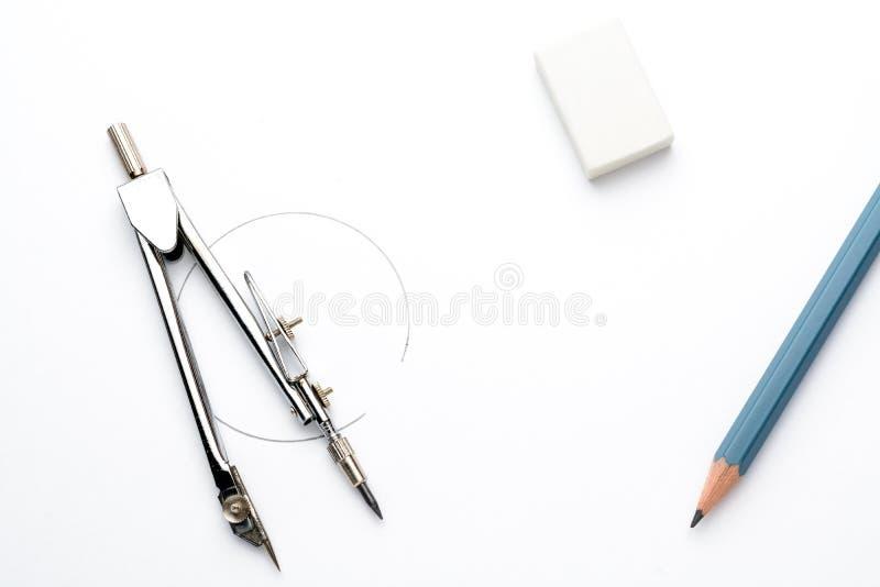 Toebehoren voor tekening stock afbeelding