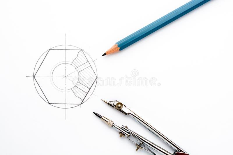 Toebehoren voor tekening stock foto's