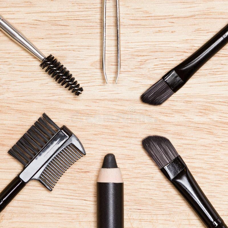 Toebehoren voor zorg van brows en zwepen royalty-vrije stock afbeelding