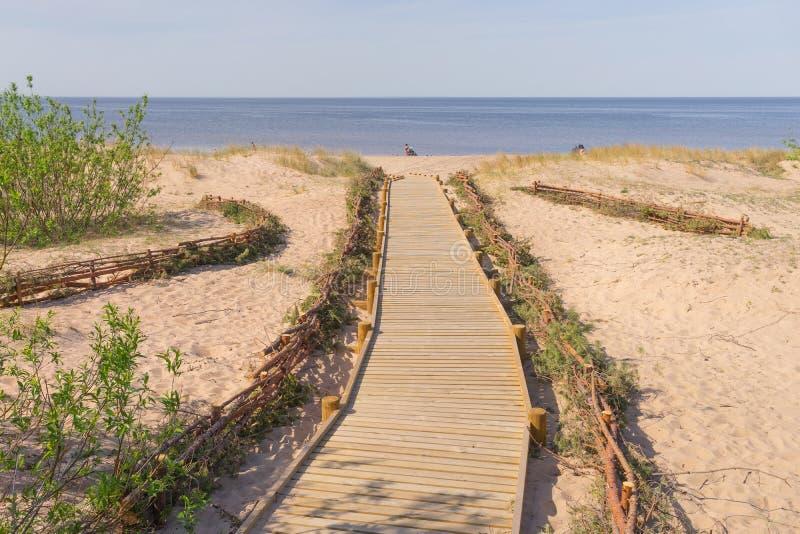 Toegang tot het strand van de Oostzee stock afbeelding