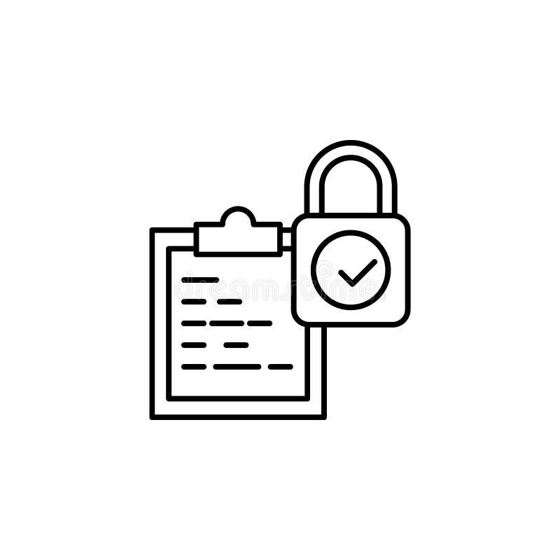 Toegankelijkheid, integriteitspictogram Element van het algemene pictogram van het gegevensproject voor mobiel concept en Web app vector illustratie