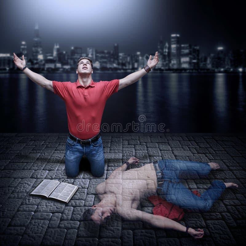 Toegenomen van geestelijke dood stock foto's