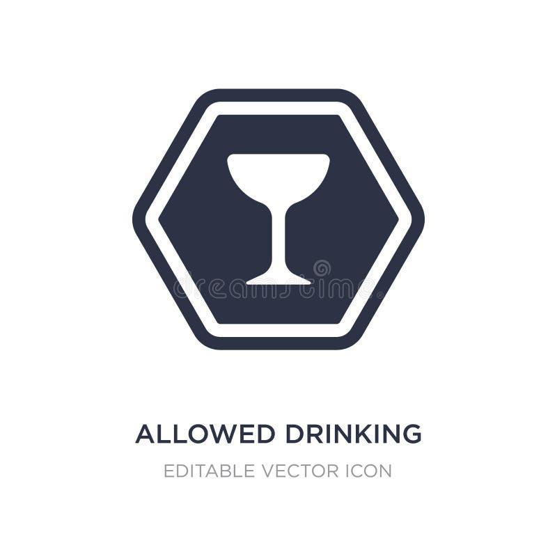 toegestaan het drinken pictogram op witte achtergrond Eenvoudige elementenillustratie van Signalerend concept stock illustratie