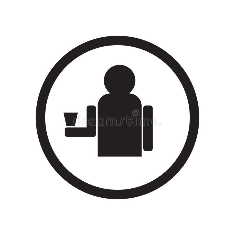 Toegestaan het drinken pictogram vectordieteken en symbool op witte achtergrond, Toegestaan drinkend wordt geïsoleerd embleemconc vector illustratie
