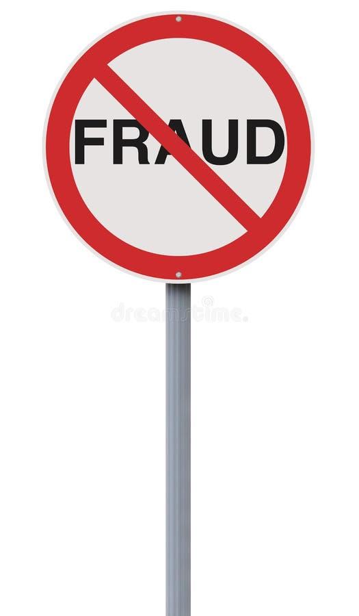Toegestane niet fraude royalty-vrije stock fotografie