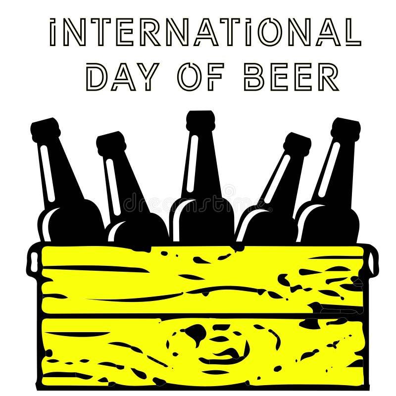 Toejuichingenpartner Glas van bier geïsoleerde vectorillustratie, minimaal ontwerp Het pictogram van het lagerbierbier op witte a vector illustratie