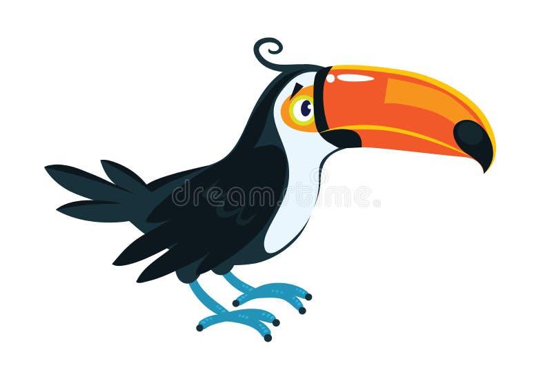 Toekan Kinderen vectorillustratie van grappige vogel vector illustratie