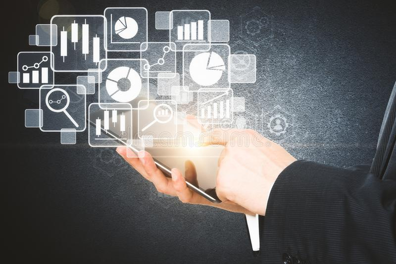 Toekomst en technologieconcept stock illustratie
