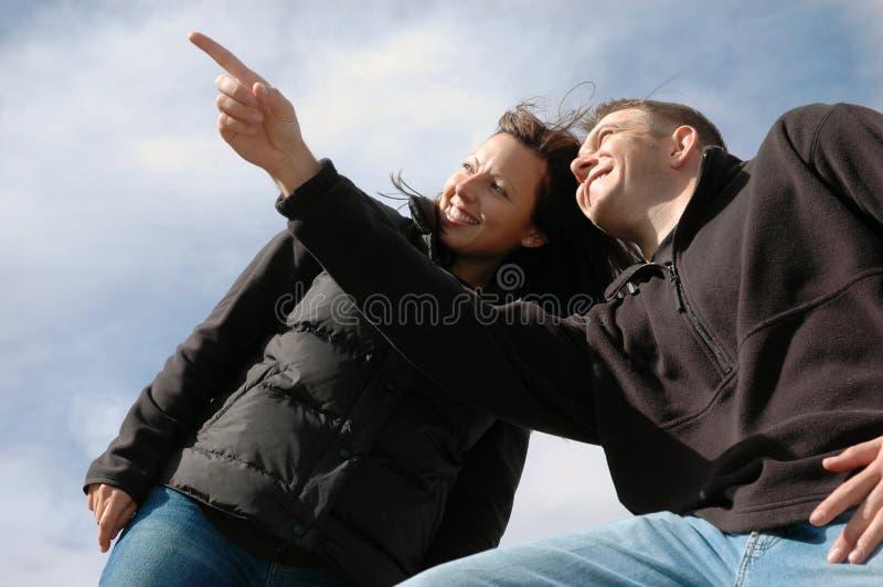 Toekomstgericht Actief Paar stock afbeelding