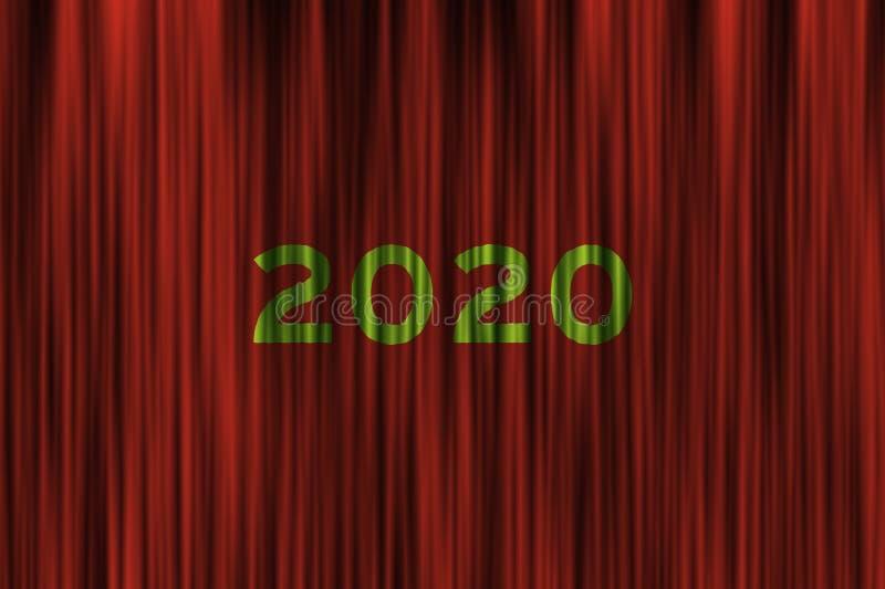 Toekomstig concept voor het aanstaande nieuwe jaar van 2020 royalty-vrije stock fotografie