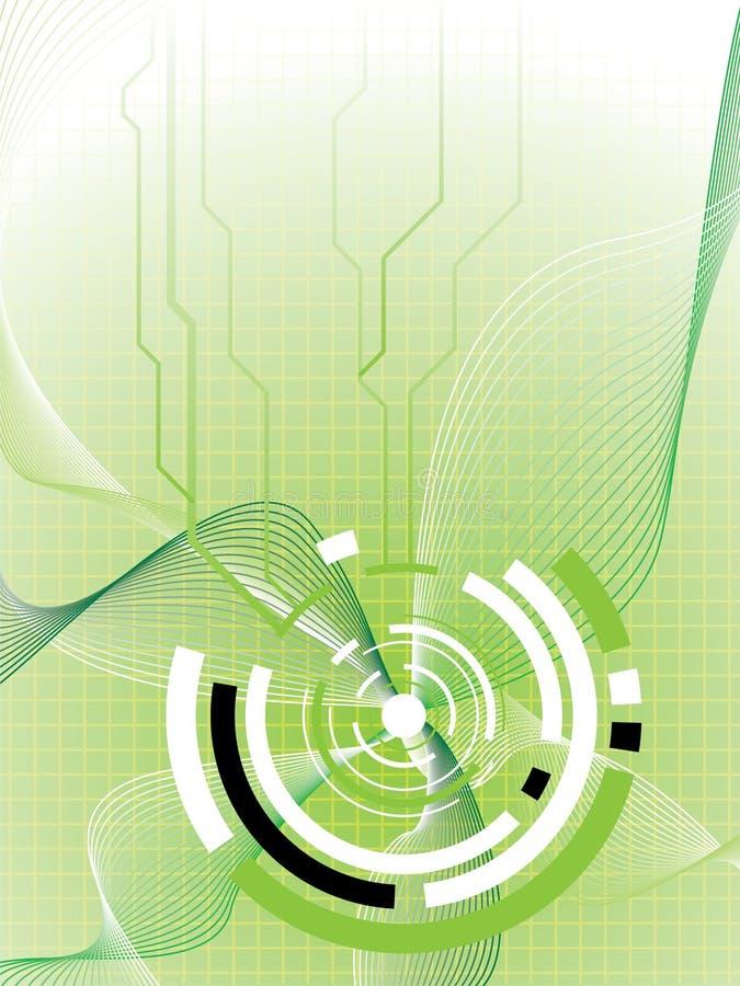 Toekomstig groen detail vector illustratie