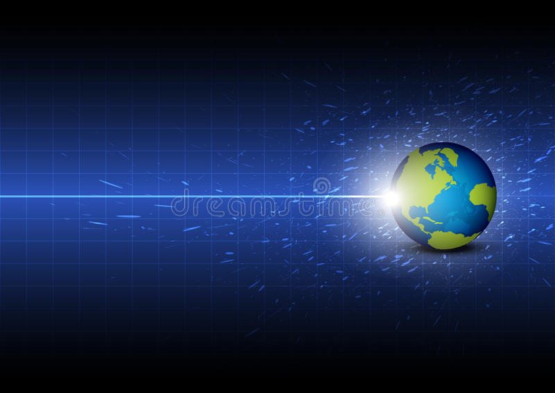 Toekomstige digitale globale technologie stock illustratie