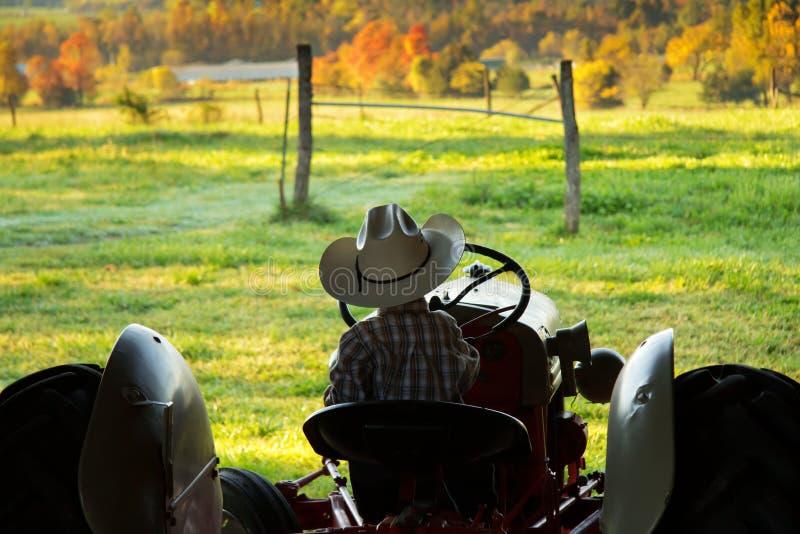 Toekomstige Landbouwer Surveying het Land royalty-vrije stock fotografie