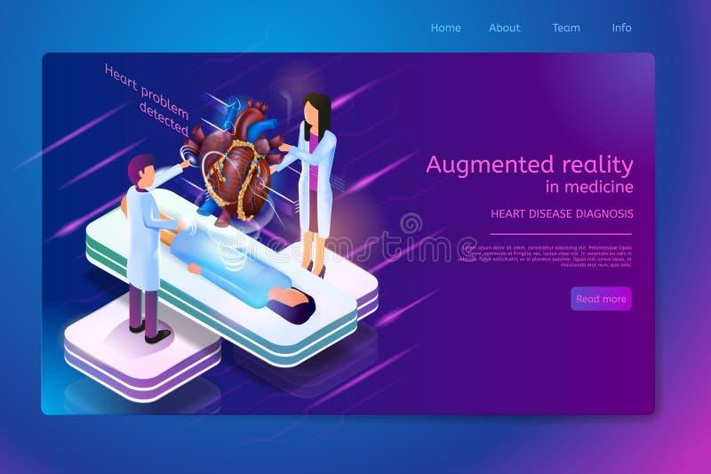 Toekomstige Medische Technologieën Isometrische Vector royalty-vrije illustratie