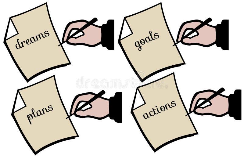Toekomstige plannen stock illustratie