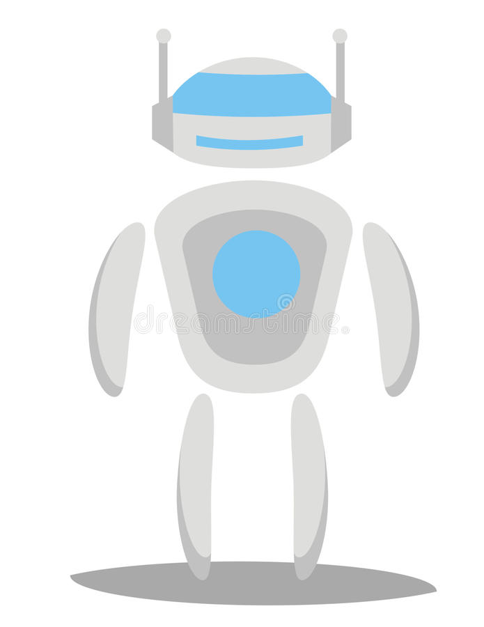 Toekomstige Robotvector stock foto's