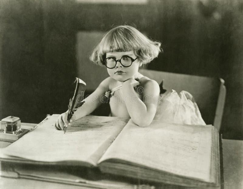 Toekomstige schrijver stock fotografie