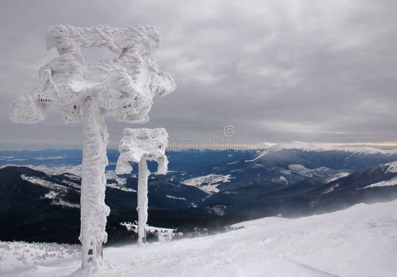 Toekomstige skilift stock afbeeldingen