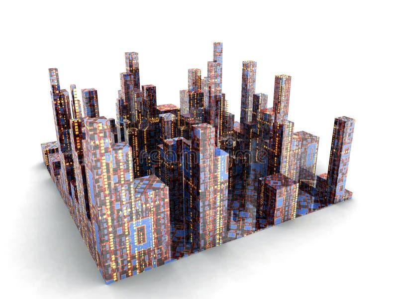 Toekomstige Stad vector illustratie