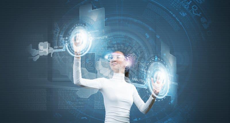 Toekomstige technologieën royalty-vrije stock afbeelding