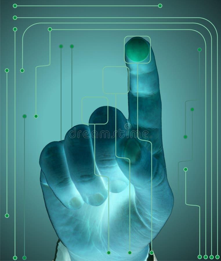 Toekomstige technologie stock illustratie