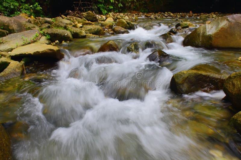 Toen de rivier begon te drogen stock afbeelding