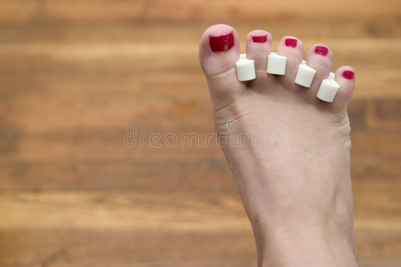 Download Toenails stock image. Image of ruby, digits, crimson, five - 208747