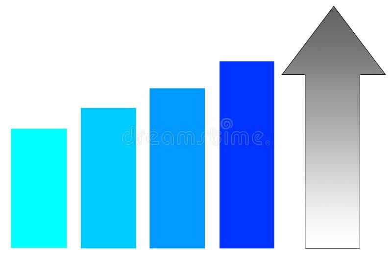 Toenemende resultaten royalty-vrije illustratie