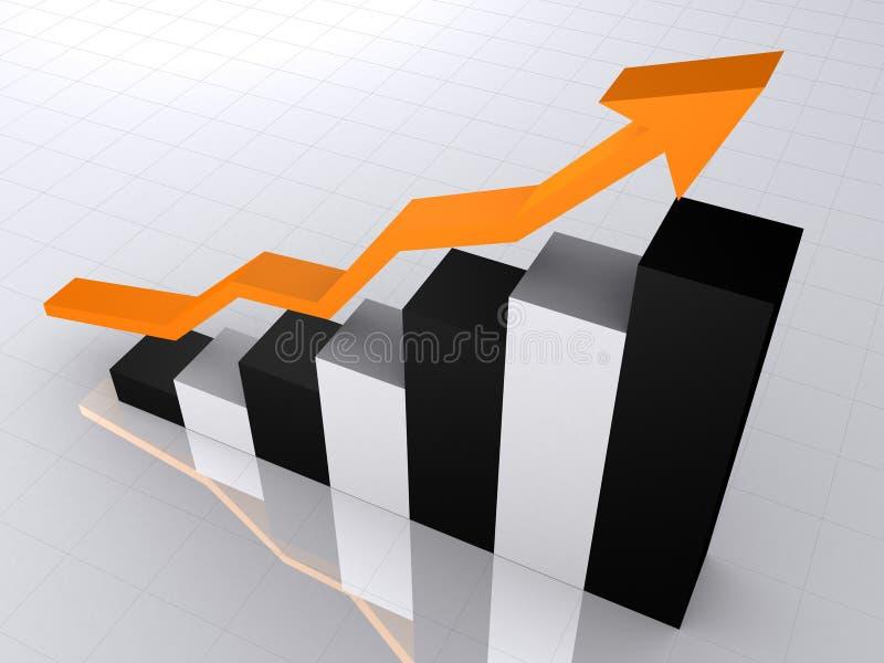 Toenemende statistiek stock illustratie