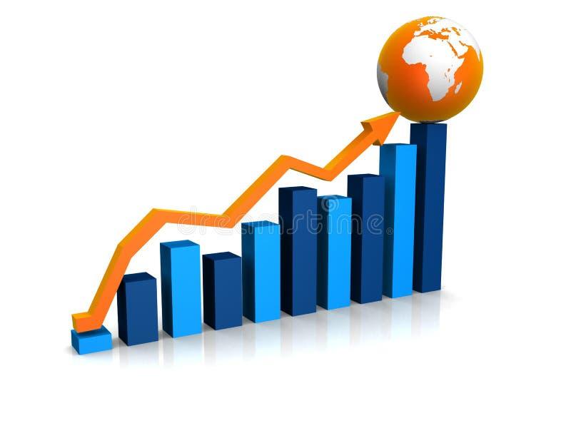 Toenemende statistiek vector illustratie