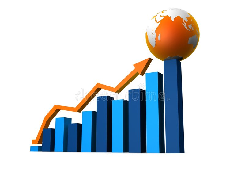 Toenemende statistiek royalty-vrije illustratie