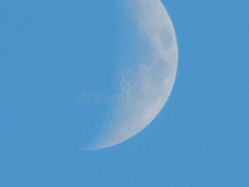 Toenemende zilveren maan stock fotografie
