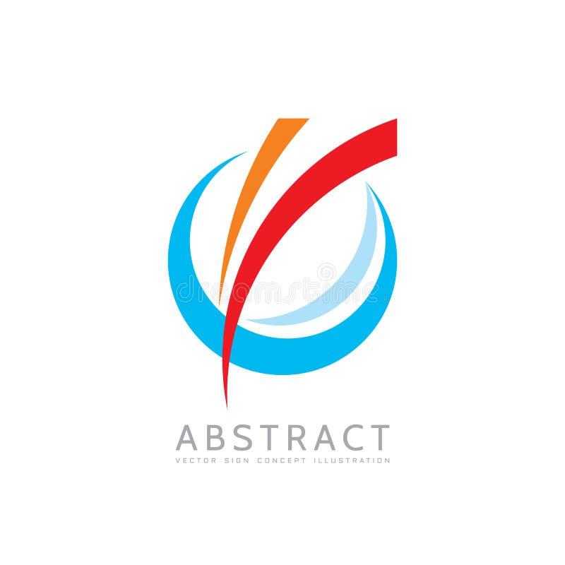 Toepassing - de vectorillustratie van het bedrijfsembleemconcept Gekleurde ring met abstracte vormen Positief geometrisch teken i vector illustratie
