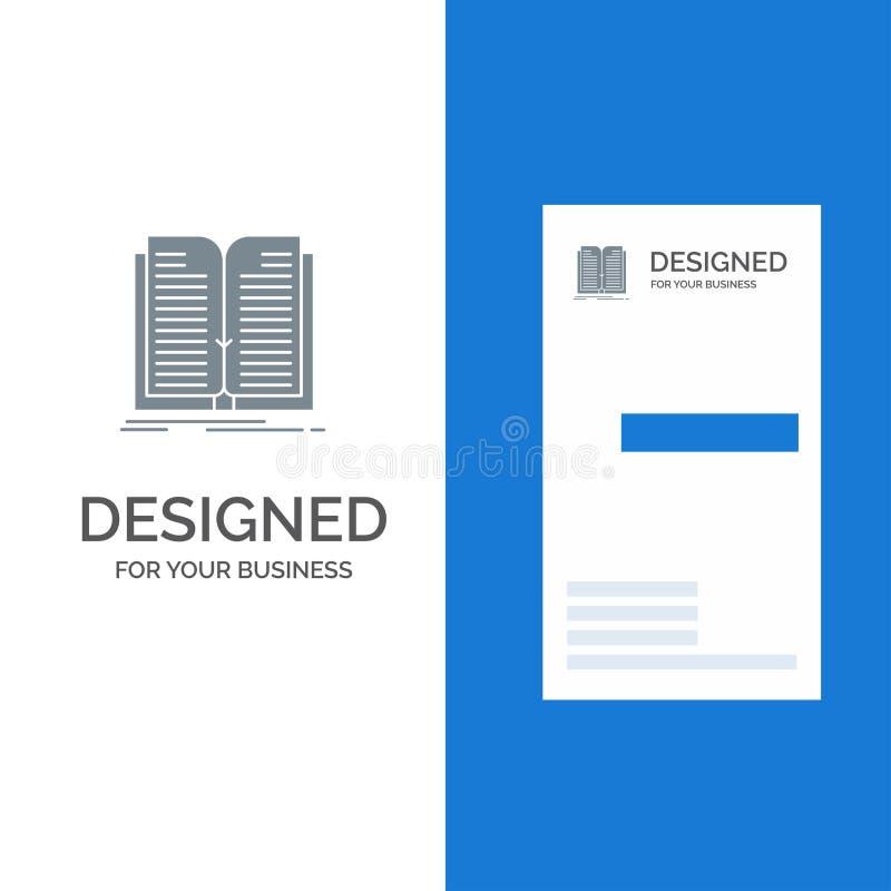 Toepassing, Dossier, Overdracht, Boek Grey Logo Design en Visitekaartjemalplaatje stock illustratie